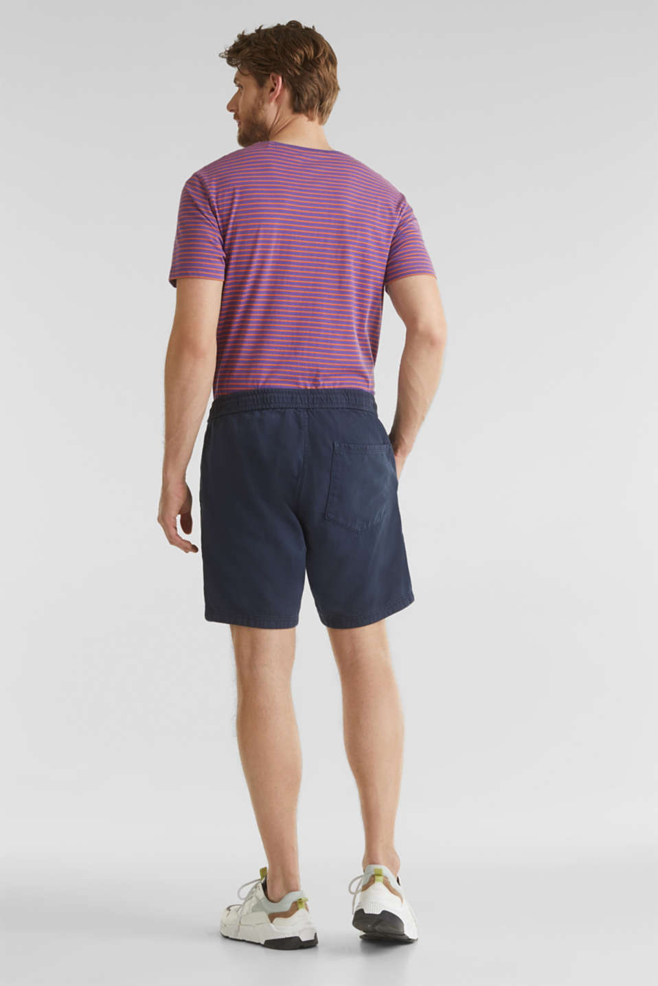 shorts in 100% cotton, DARK BLUE, detail image number 3