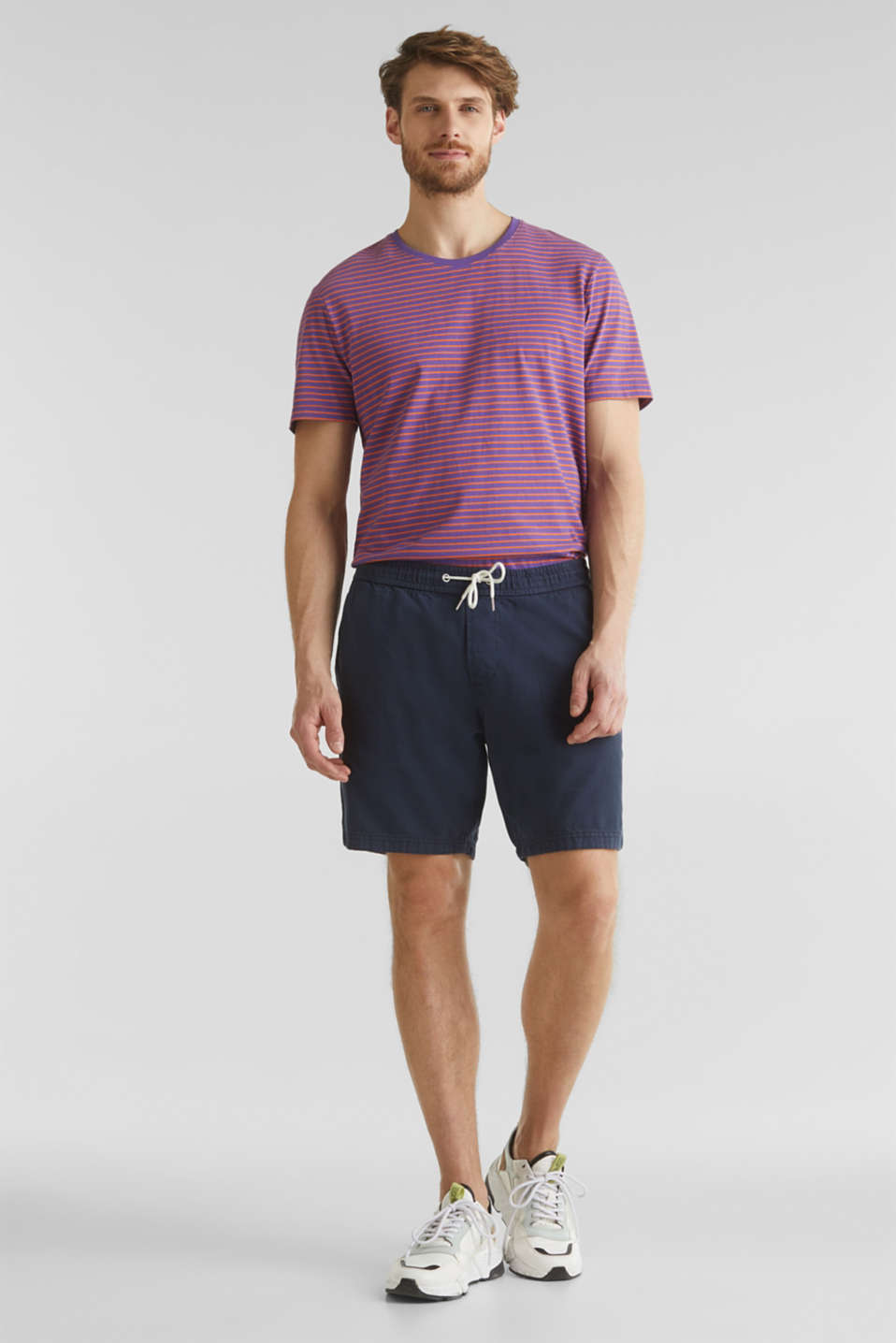 shorts in 100% cotton, DARK BLUE, detail image number 1