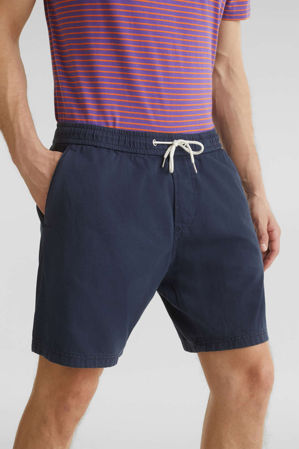 shorts in 100% cotton, DARK BLUE, detail image number 2