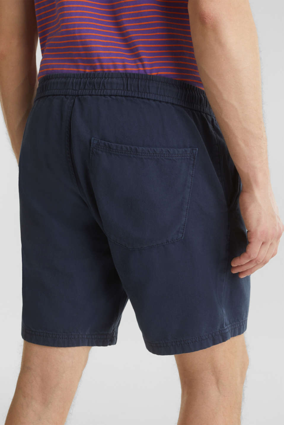 shorts in 100% cotton, DARK BLUE, detail image number 5