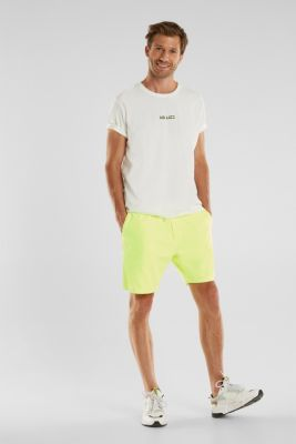 shorts in 100% cotton, BRIGHT YELLOW, detail