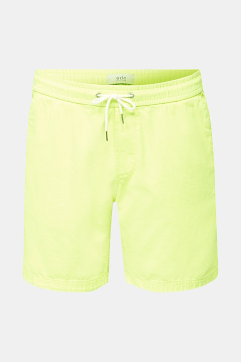 shorts in 100% cotton
