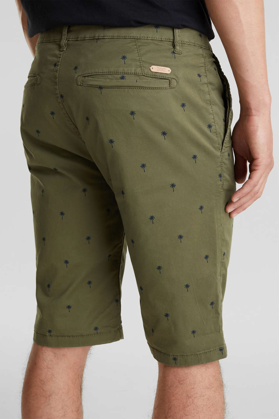 Shorts with a palm tree print, OLIVE 4, detail image number 2