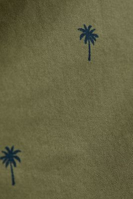 Shorts with a palm tree print, OLIVE 4, detail
