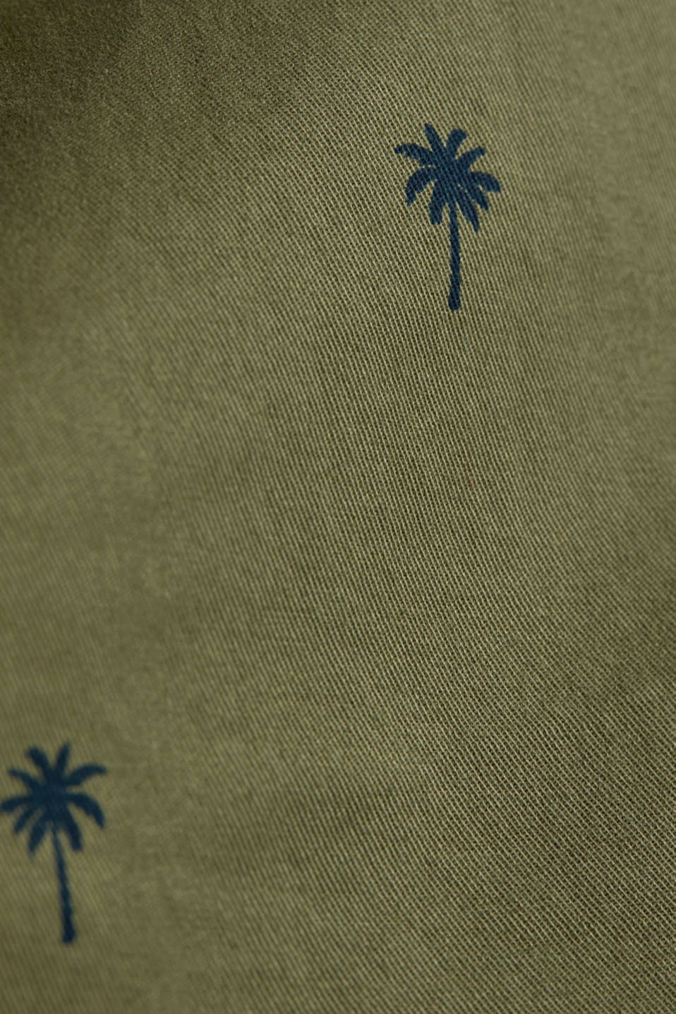 Shorts with a palm tree print, OLIVE 4, detail image number 4