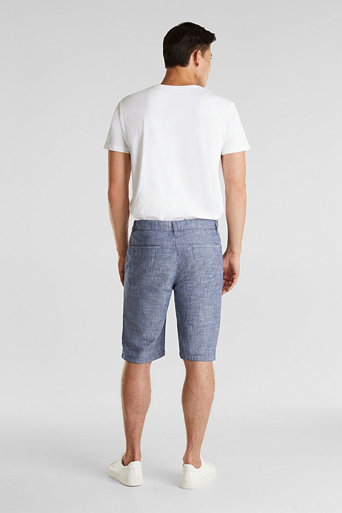 Chambray shorts in a chino look, NAVY, detail image number 2