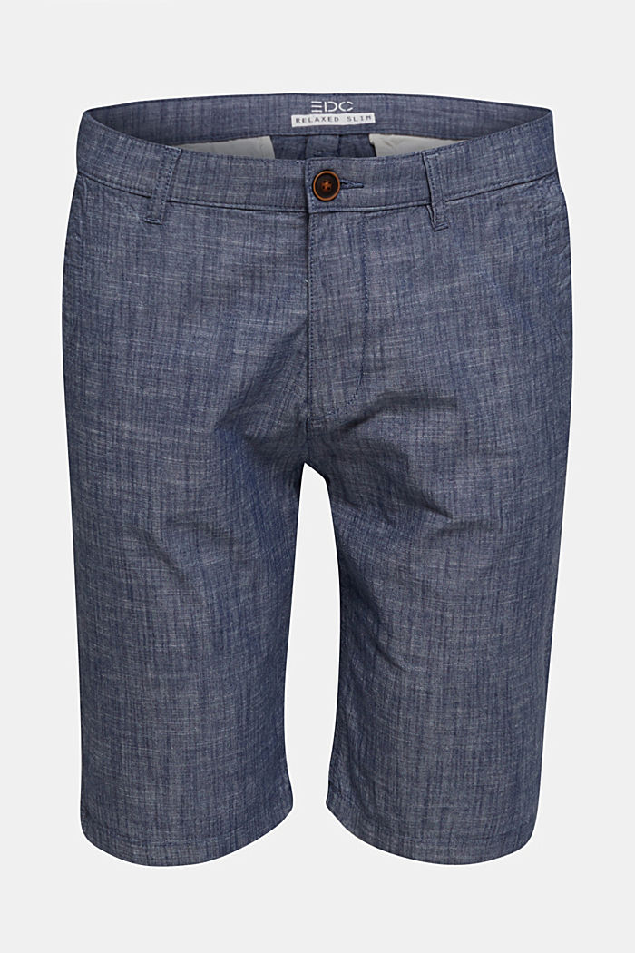 Chambray shorts in a chino look, NAVY, detail image number 4