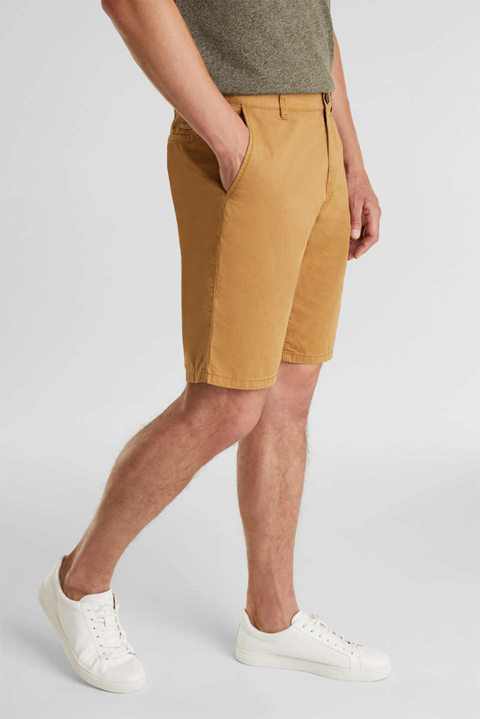 shorts in 100% cotton, CAMEL 2, detail image number 0