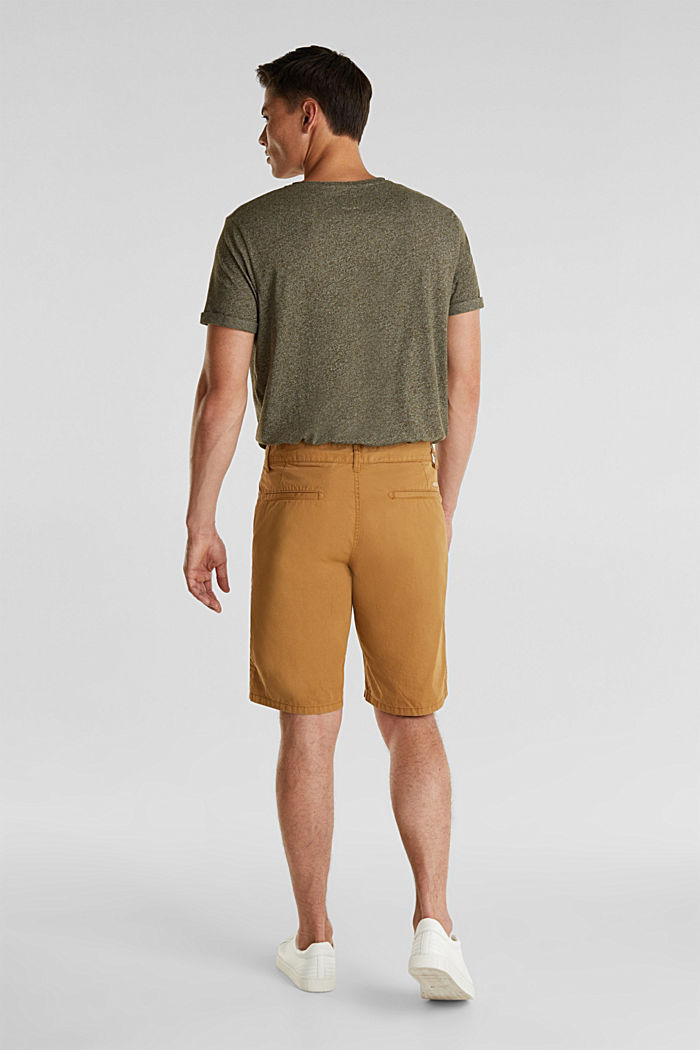 shorts in 100% cotton, CAMEL, detail image number 3