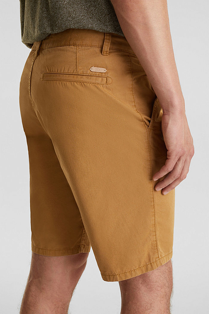 shorts in 100% cotton, CAMEL, detail image number 2