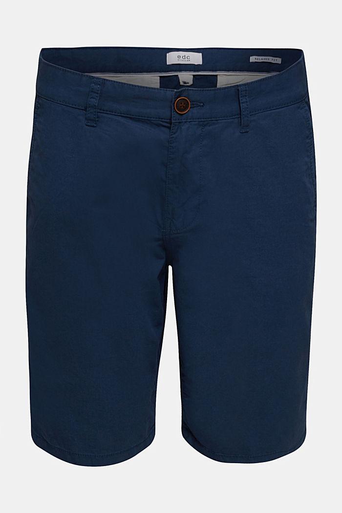shorts in 100% cotton, DARK BLUE, detail image number 0