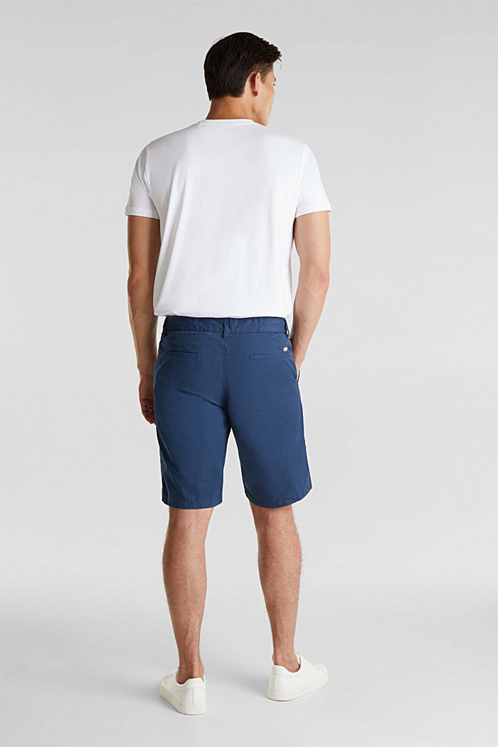 shorts in 100% cotton, DARK BLUE, detail image number 3