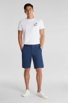 shorts in 100% cotton, DARK BLUE, detail