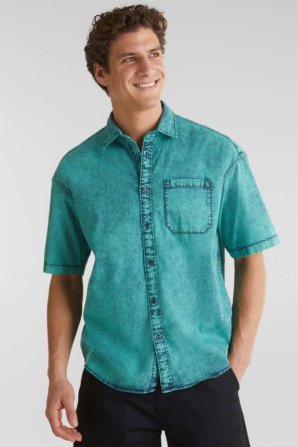 Shirt in a vintage look, BOTTLE GREEN 5, detail image number 0