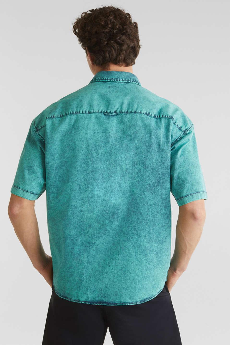 Shirt in a vintage look, BOTTLE GREEN 5, detail image number 3