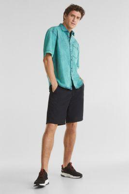 Shirt in a vintage look, BOTTLE GREEN 5, detail