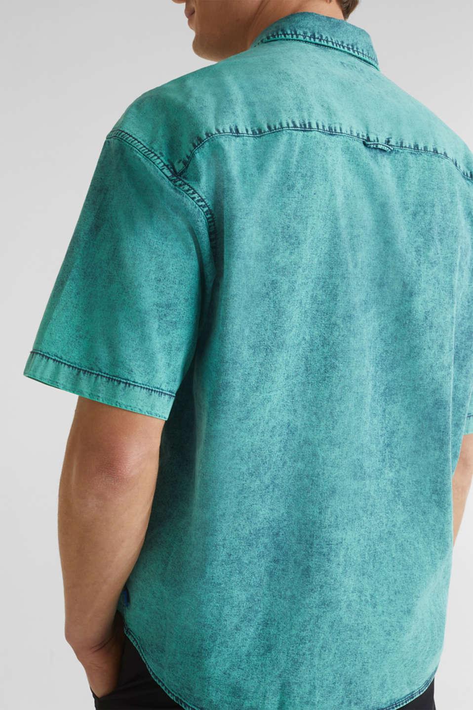 Shirt in a vintage look, BOTTLE GREEN 5, detail image number 2