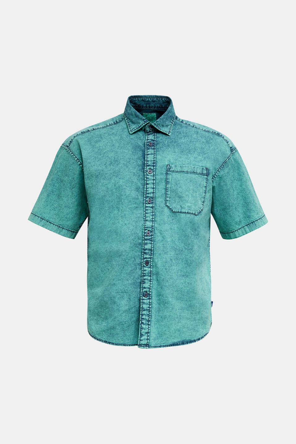 Shirt in a vintage look, BOTTLE GREEN 5, detail image number 6
