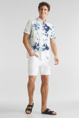 Batik shirt, 100% cotton, NAVY 4, detail