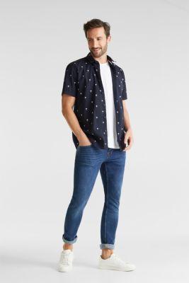 Printed T-shirt in 100% organic cotton, NAVY 4, detail