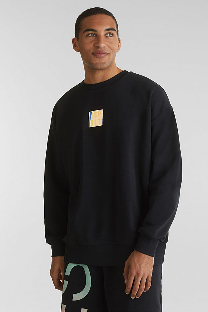 #throwback Print-Sweatshirt, BLACK, overview