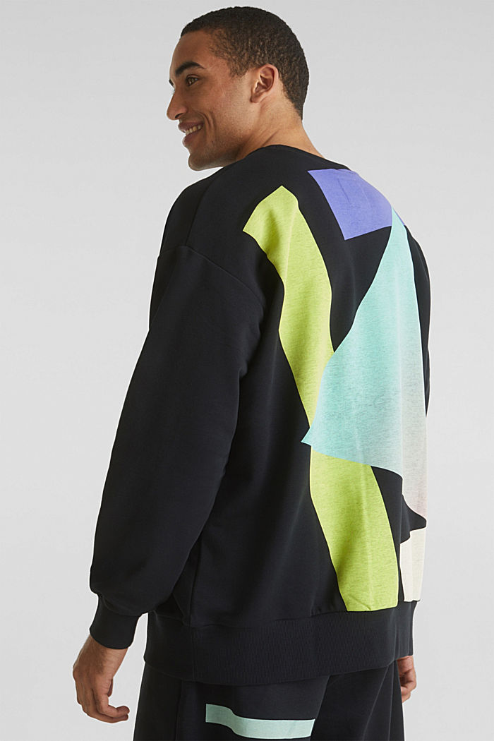 #throwback print sweatshirt, BLACK, detail image number 1