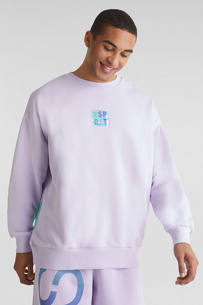 #throwback print sweatshirt, LAVENDER, detail image number 0