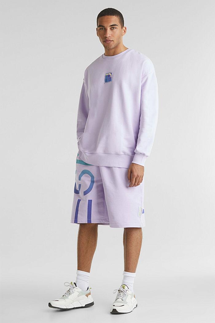 #throwback print sweatshirt, LAVENDER, detail image number 1