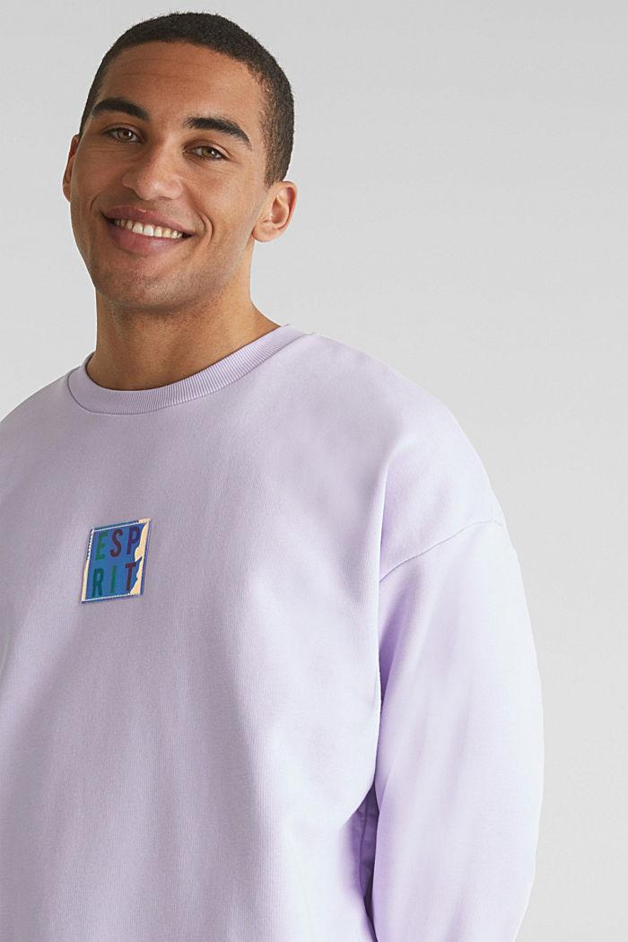 #throwback print sweatshirt, LAVENDER, detail image number 2