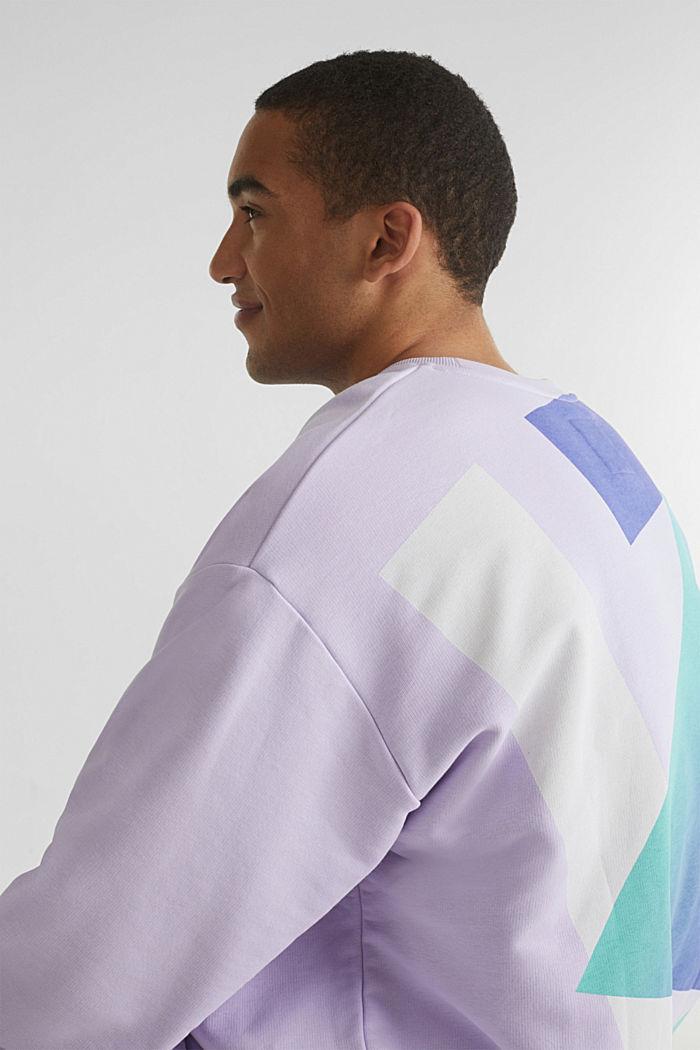 #throwback print sweatshirt, LAVENDER, detail image number 7