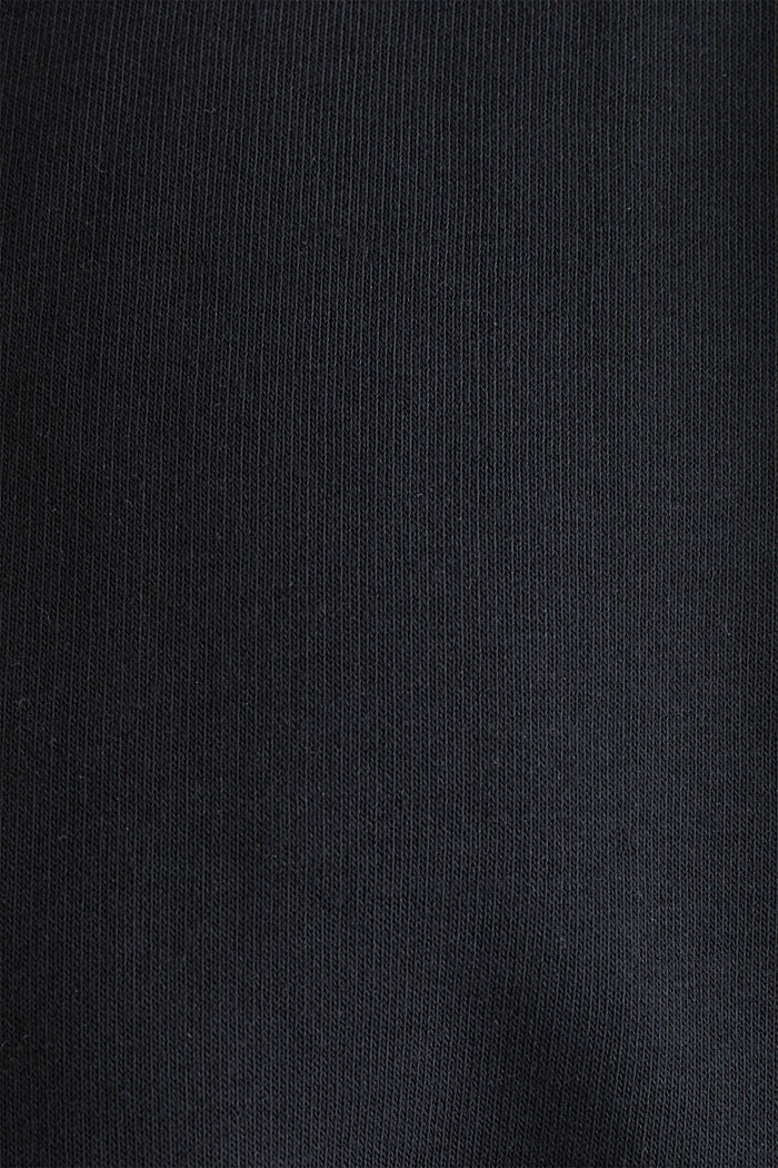 #throwback sweatshirt fabric hoodie with organic cotton, BLACK, detail image number 5