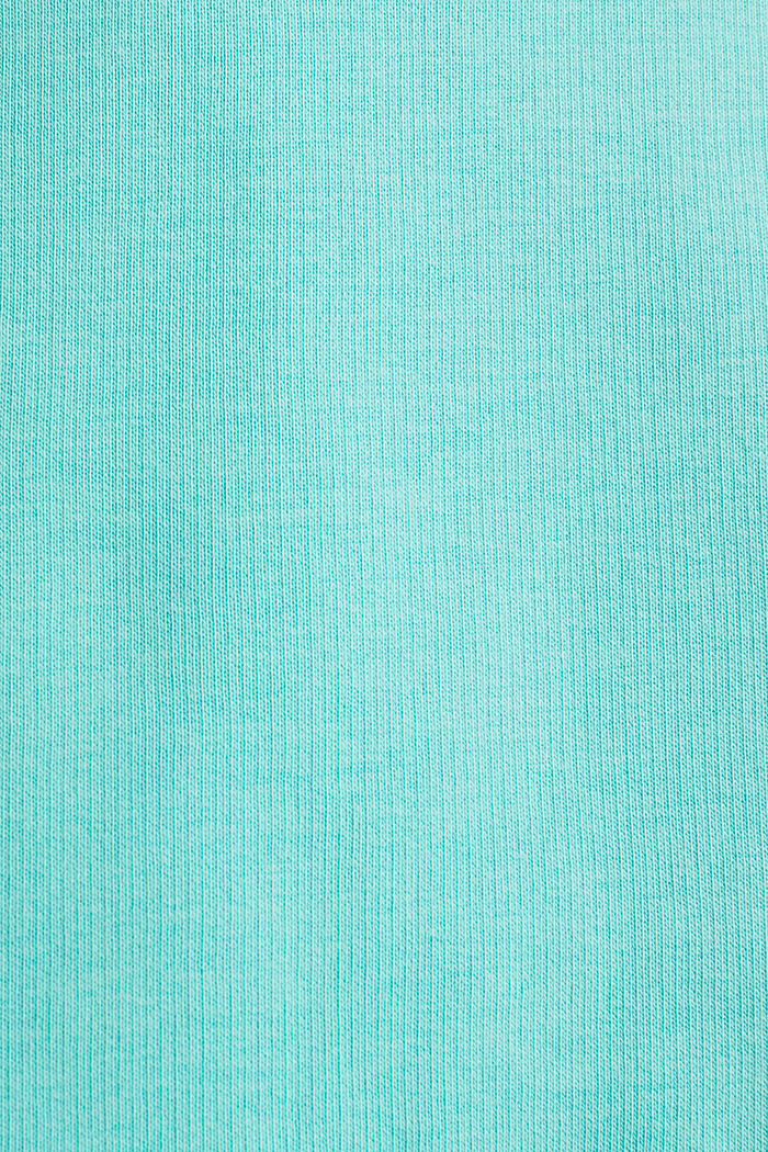 #throwback sweatshirt fabric hoodie with organic cotton, PASTEL GREEN, detail image number 5