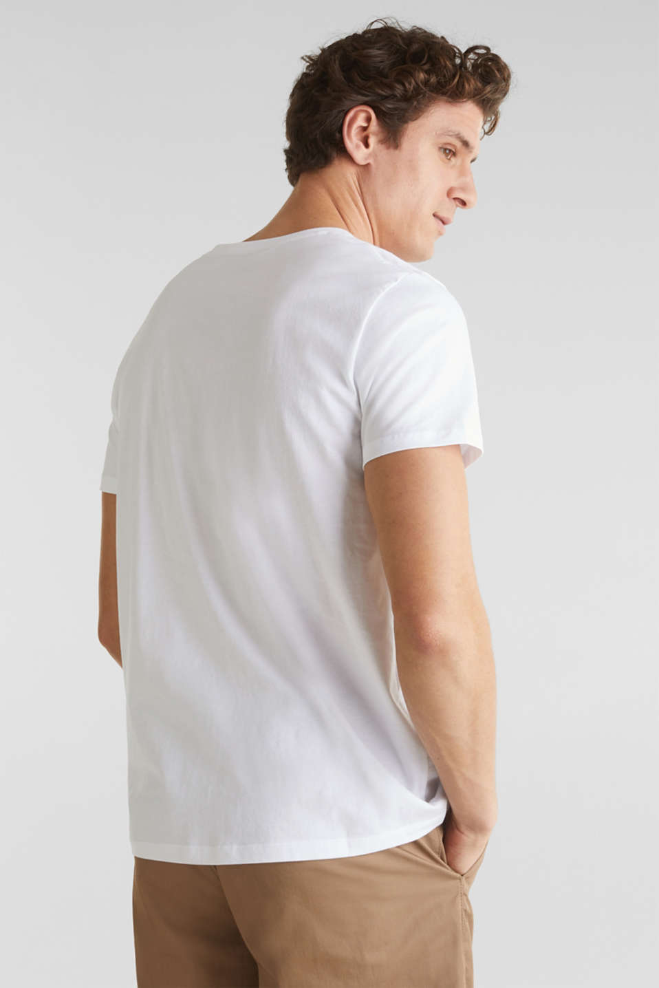 Jersey top with organic cotton, WHITE, detail image number 2