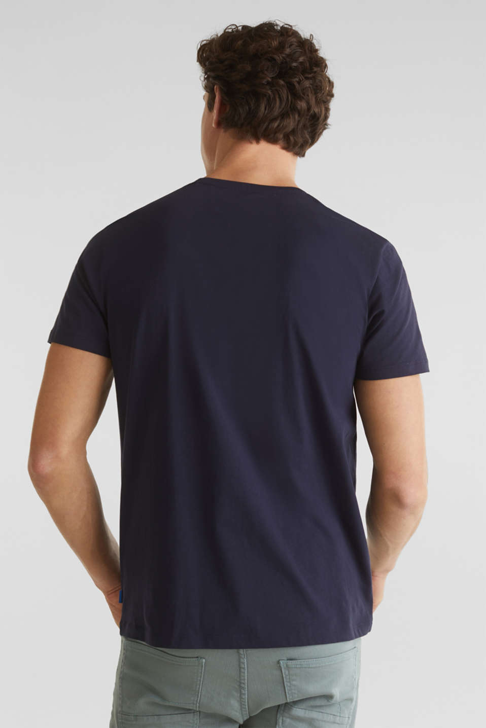 Jersey top with organic cotton, NAVY, detail image number 3