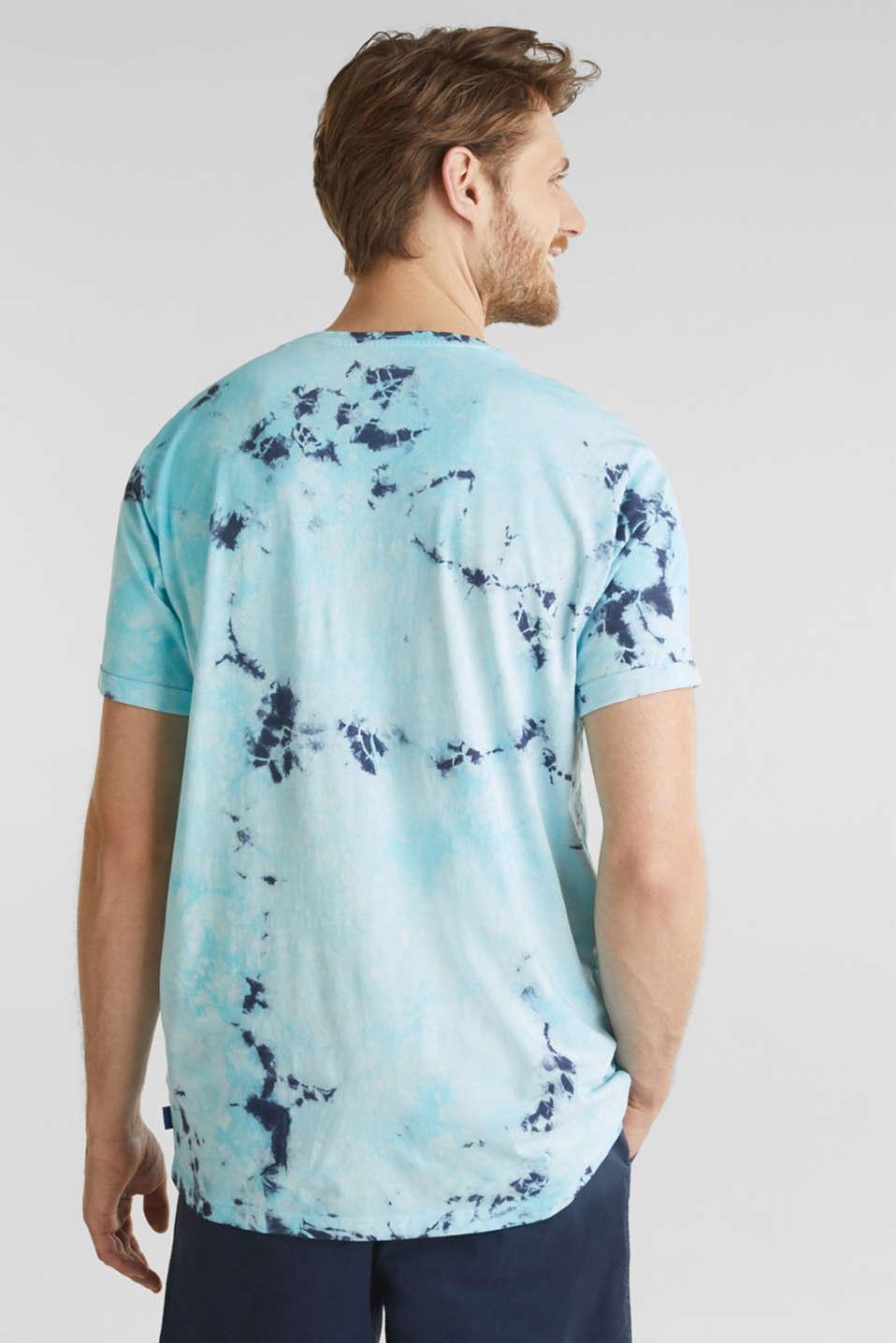 Long batik jersey top, 100% organic cotton, LIGHT BLUE 2, detail image number 3