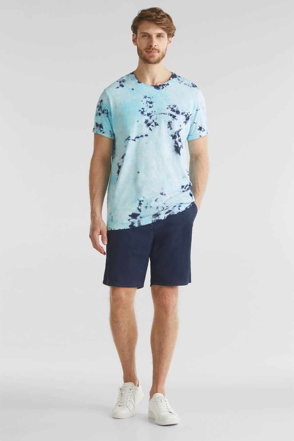 Long batik jersey top, 100% organic cotton, LIGHT BLUE 2, detail image number 2