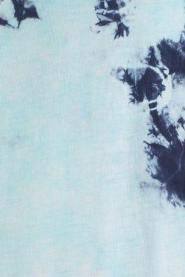 Long batik jersey top, 100% organic cotton, LIGHT BLUE 2, detail