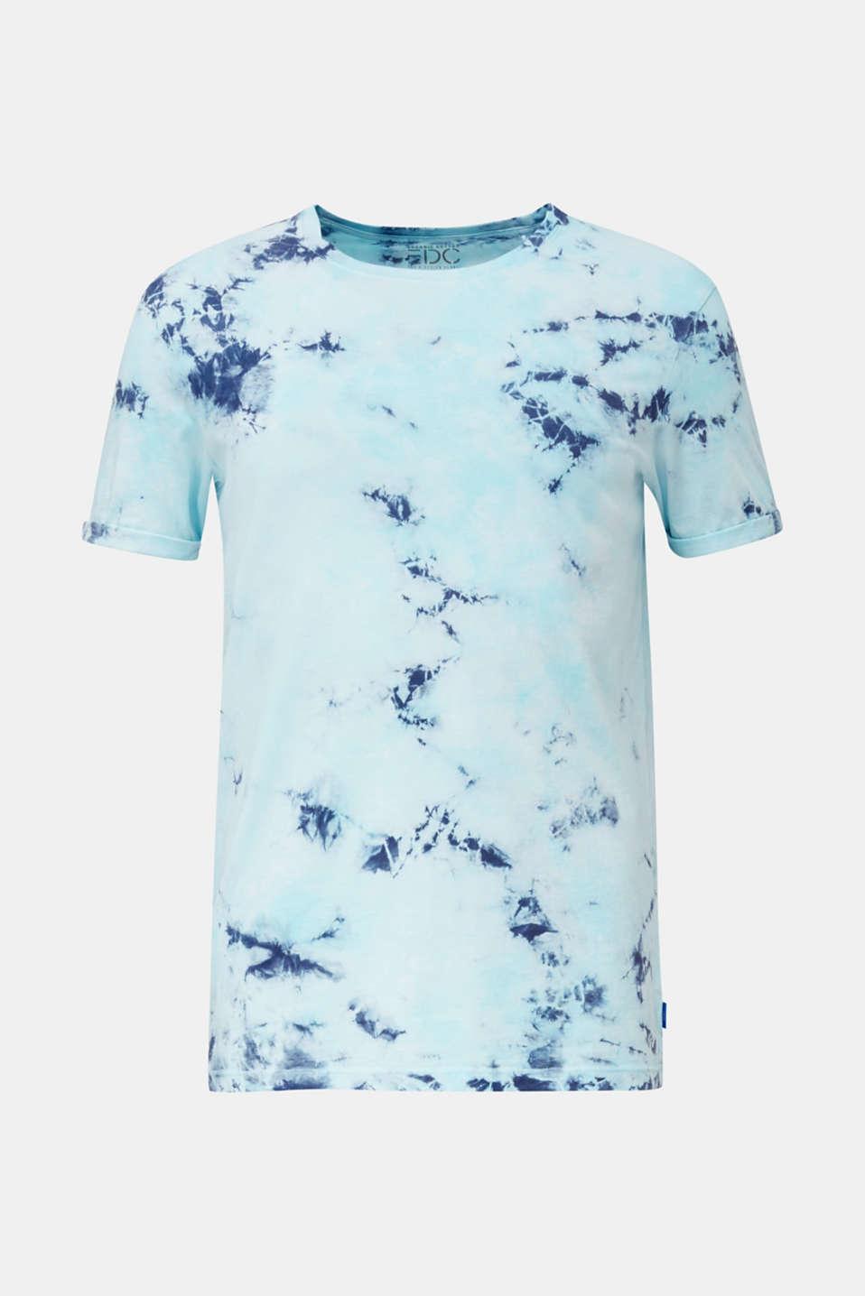 Long batik jersey top, 100% organic cotton, LIGHT BLUE 2, detail image number 5
