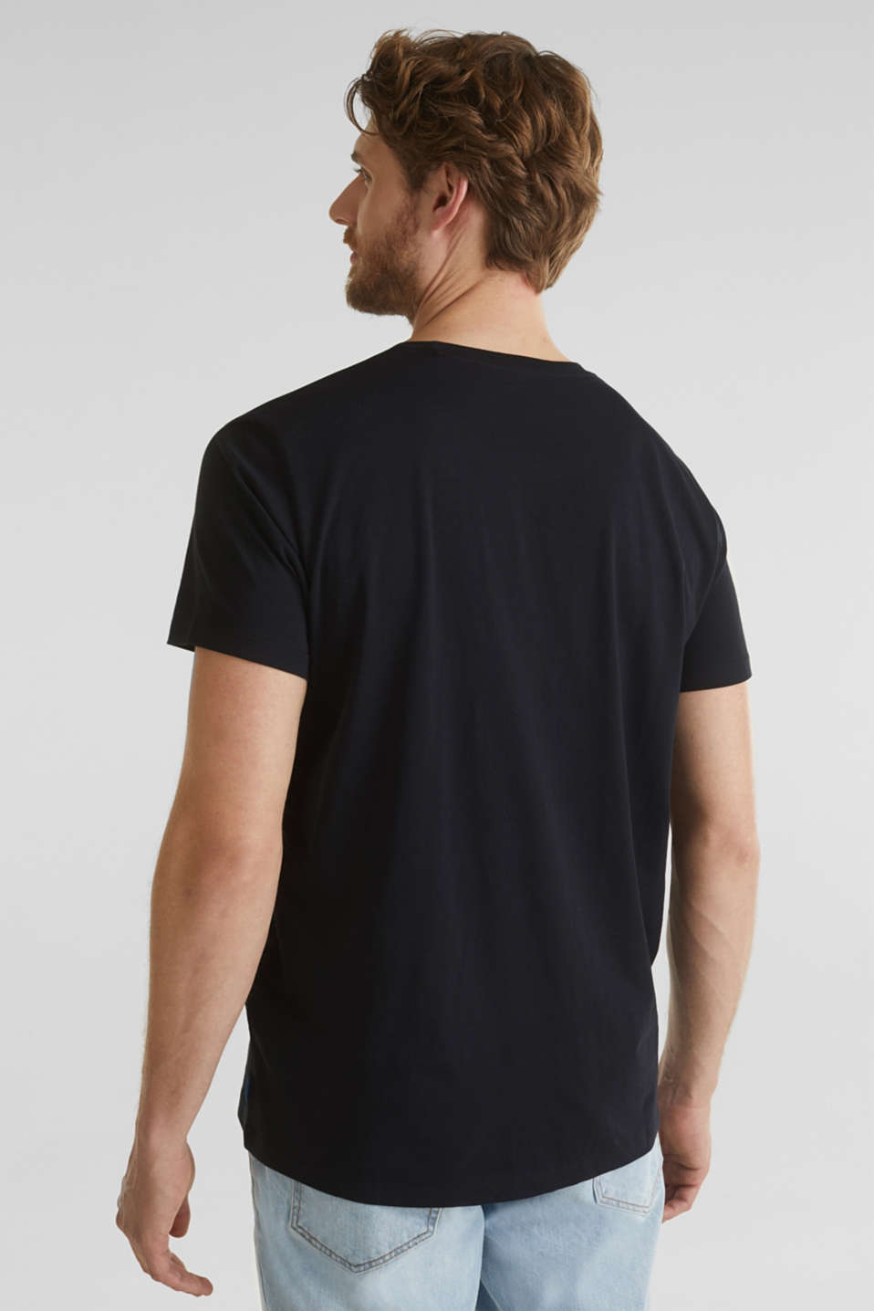 Printed jersey top made of 100% organic cotton, BLACK, detail image number 3