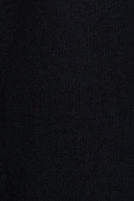 Printed jersey top made of 100% organic cotton, BLACK, detail