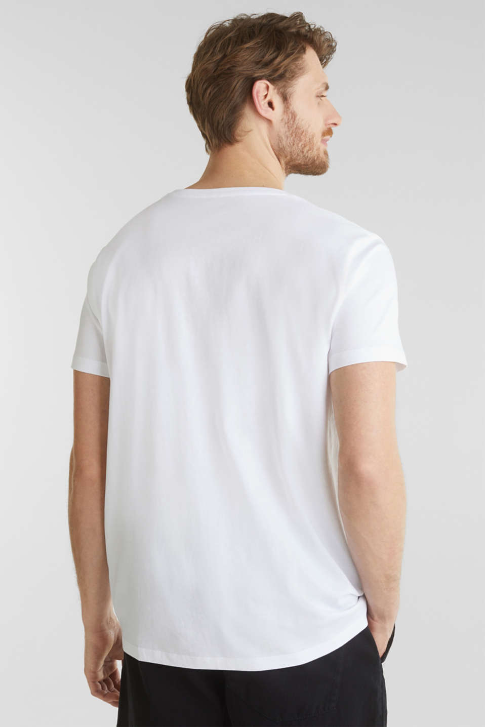 Printed jersey top made of 100% organic cotton, WHITE, detail image number 3