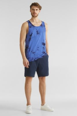Batik top, organic cotton, BRIGHT BLUE 2, detail