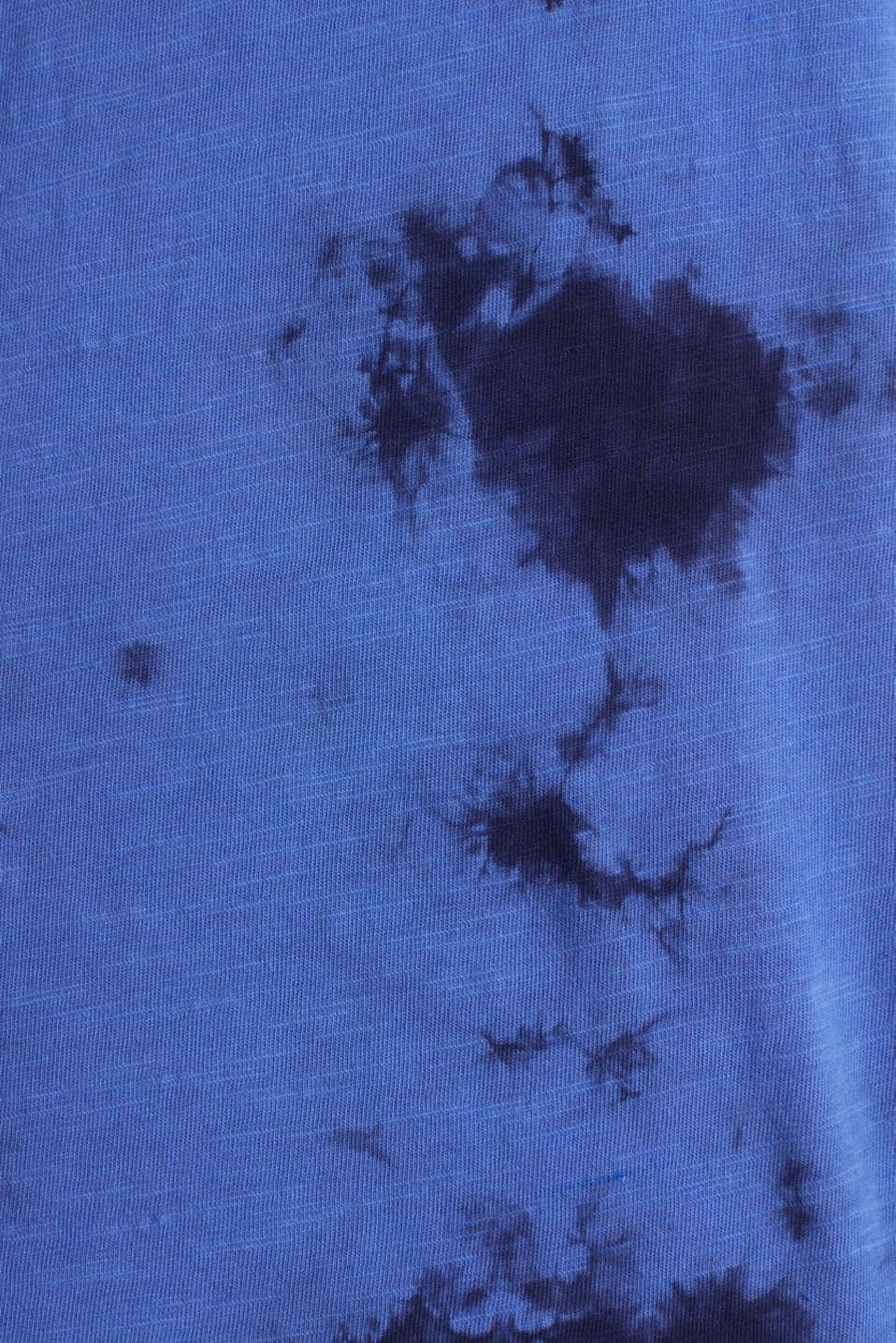 Batik top, organic cotton, BRIGHT BLUE 2, detail image number 4