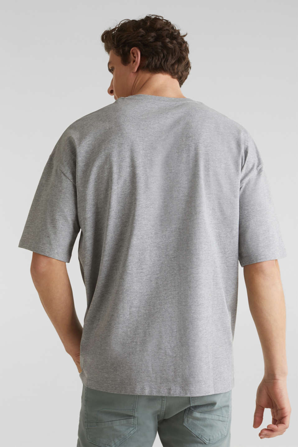 Jersey T-shirt with a print, MEDIUM GREY 5, detail image number 3