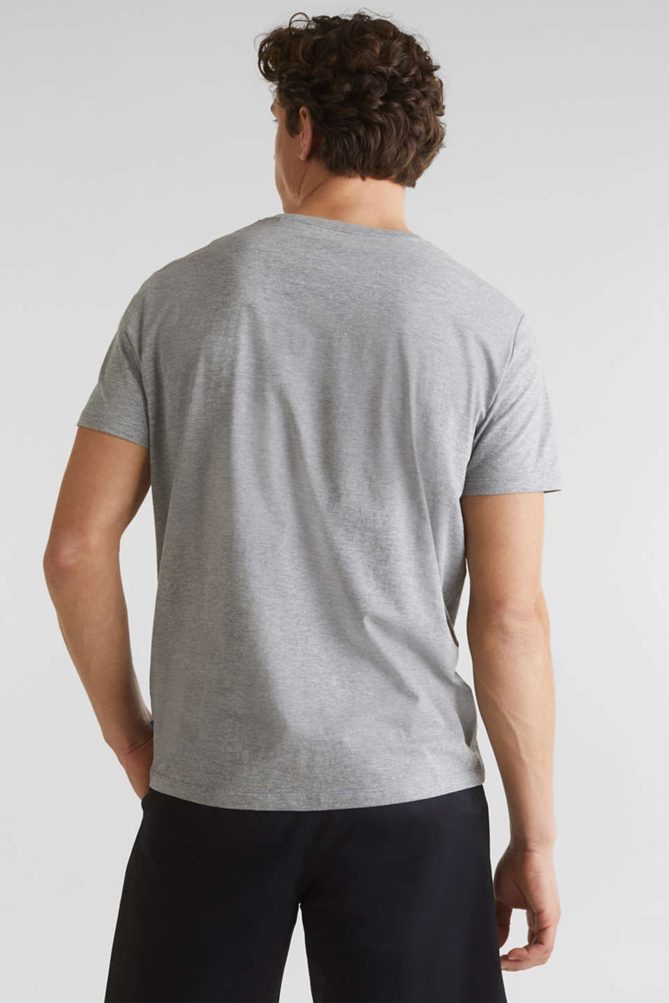 Jersey T-shirt with a print and organic cotton, MEDIUM GREY 5, detail image number 3