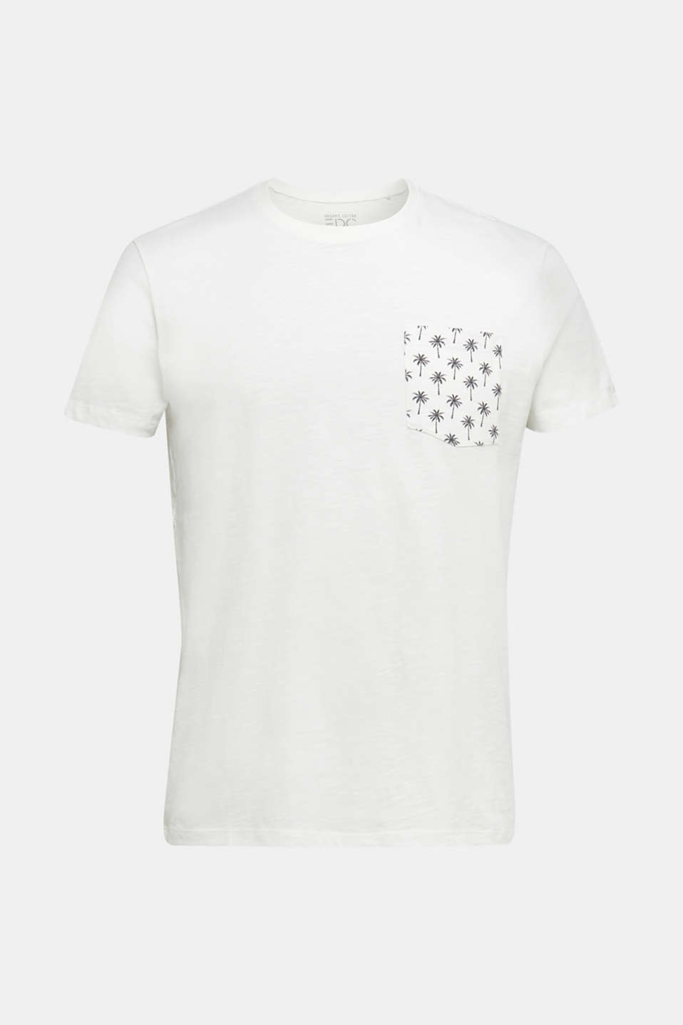 Jersey T-shirt with pocket, 100% organic cotton, OFF WHITE, detail image number 8