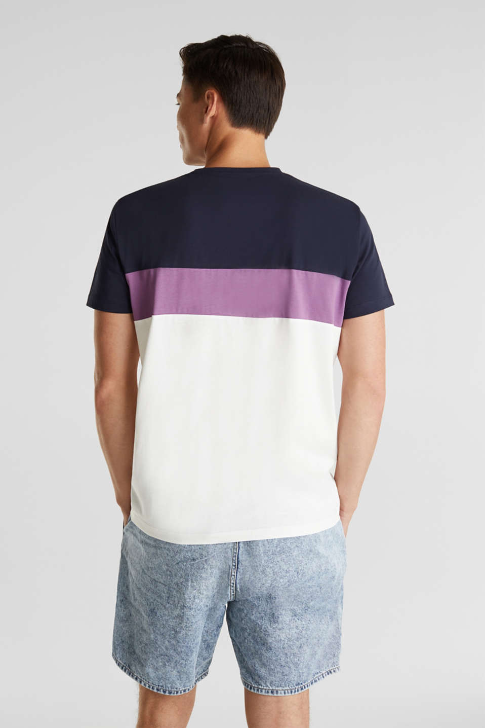 Jersey T-shirt with pocket, 100% organic cotton, OFF WHITE 2, detail image number 3