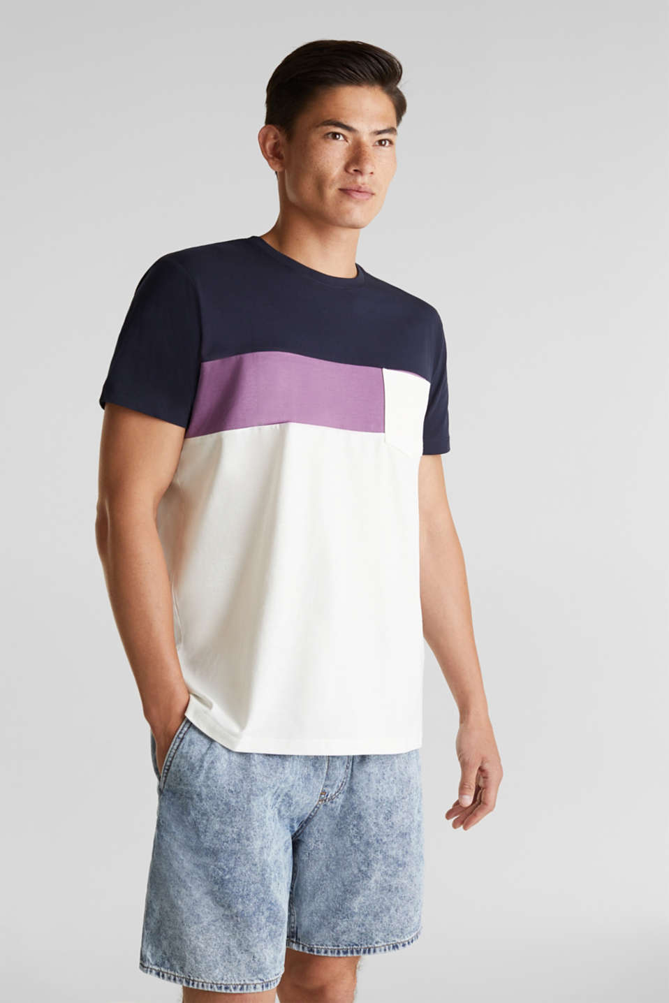 Jersey T-shirt with pocket, 100% organic cotton, OFF WHITE 2, detail image number 4