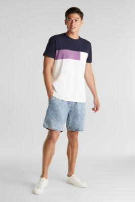 Jersey T-shirt with pocket, 100% organic cotton, OFF WHITE 2, detail