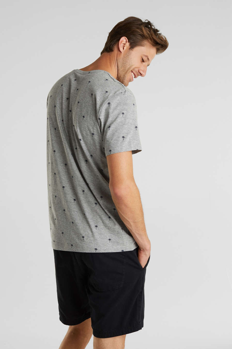 Jersey T-shirt with a palm tree print, MEDIUM GREY 5, detail image number 3